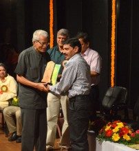 Adv Bernard D'Souza receiving award